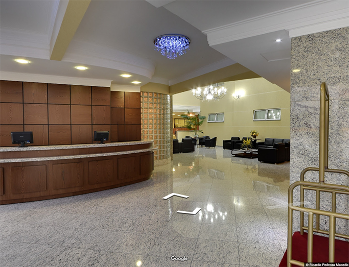 Recepção Barbur Center Hotel em Ponta Grossa